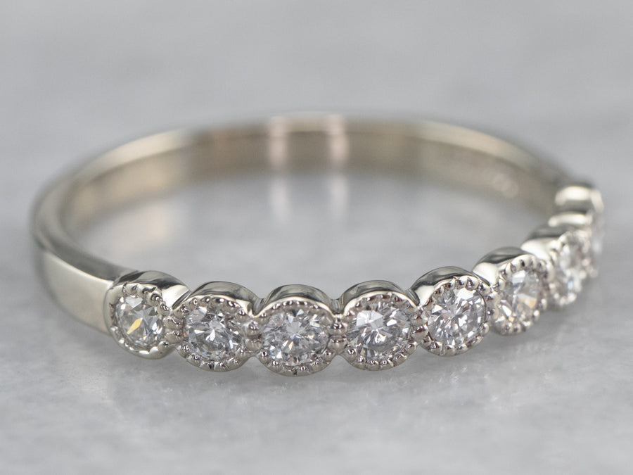 Diamond White Gold Wedding Band