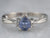 Pear Cut Sapphire Diamond White Gold Engagement Ring