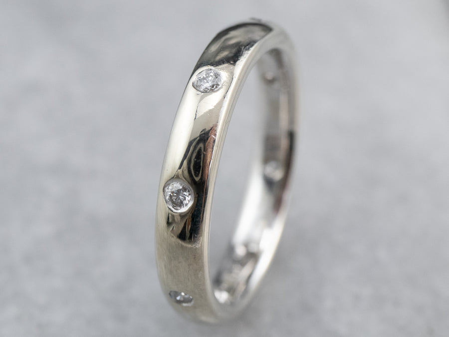 Diamond Etoile White Gold Wedding Band