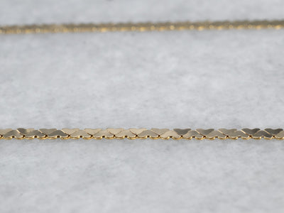 Flat Link Gold Chain Necklace