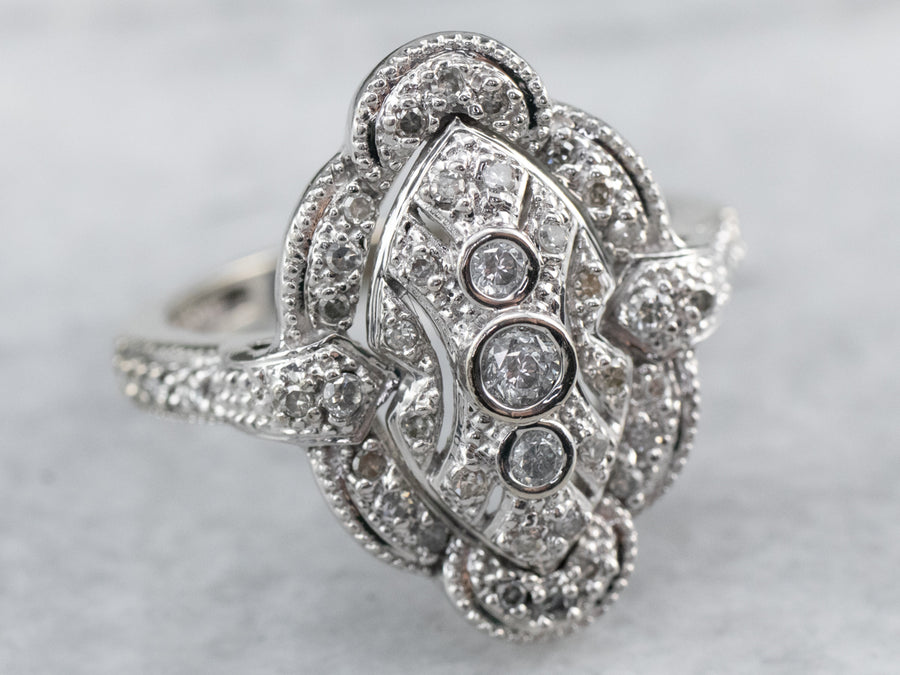 Diamond White Gold Dinner Ring