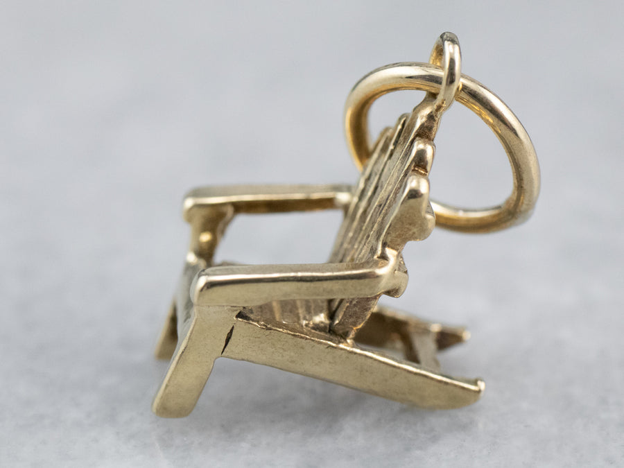 Adirondack Chair Gold Charm