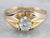 Belcher Set European Cut Diamond Gold Ring