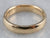 Unisex 18K Gold Plain Wedding Band