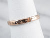 Antique Patterned Rose Gold Wedding Band