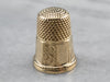 Antique Gold Monogramed Thimble