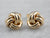 Yellow 14K Gold Lovers Knot Stud Earrings