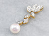 Pearl Diamond Gold Drop Pendant