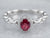 Ruby Diamond Halo White Gold Engagement Ring