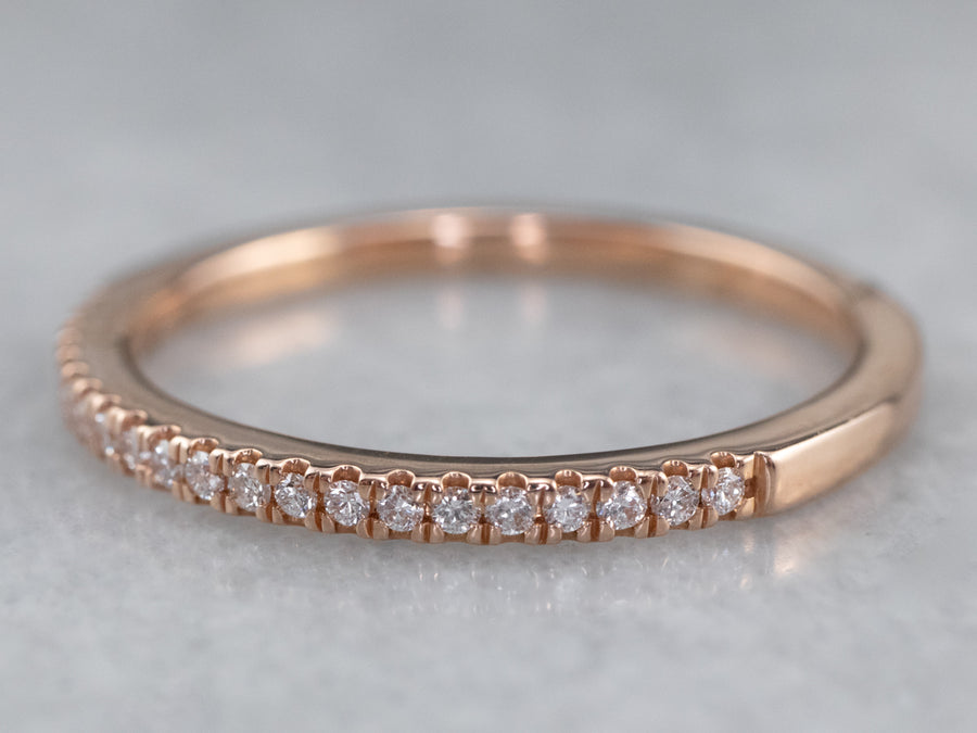 Thin Diamond Rose Gold Wedding Band