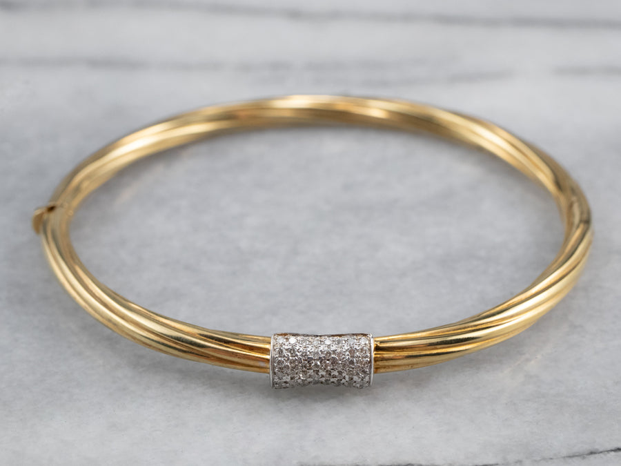 Diamond Vermeil Bangle Bracelet