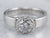 Bezel Set Diamond Platinum Solitaire Engagement Ring