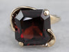 Asymmetrical Garnet Gold Ring