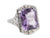 Zelda Amethyst White Gold Filigree Ring by Elizabeth Henry