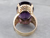 Amethyst Gold Filigree Cocktail Ring