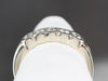 Bezel Set Diamond White Gold Wedding Band