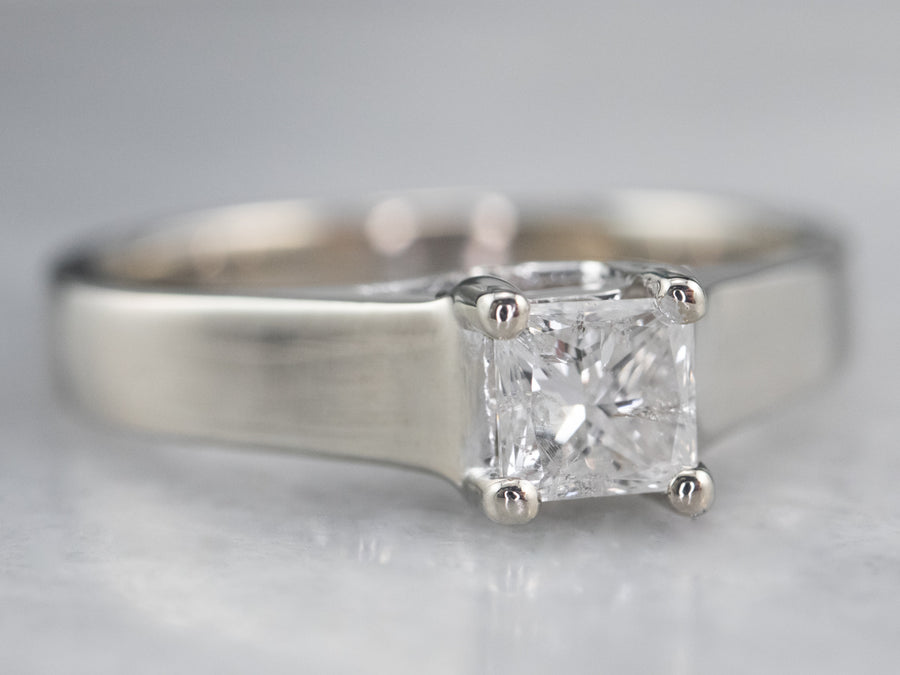 White Gold Princess Cut Diamond Ring