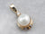 Pearl Diamond Yellow Gold Pendant