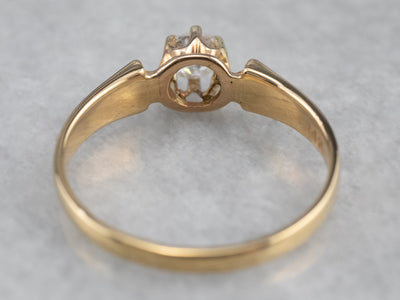Victorian Old Mine Cut Diamond Solitaire Ring