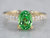 Gold Tsavorite Garnet and Diamond Ring