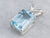 Sterling Silver Blue Topaz Solitaire Pendant