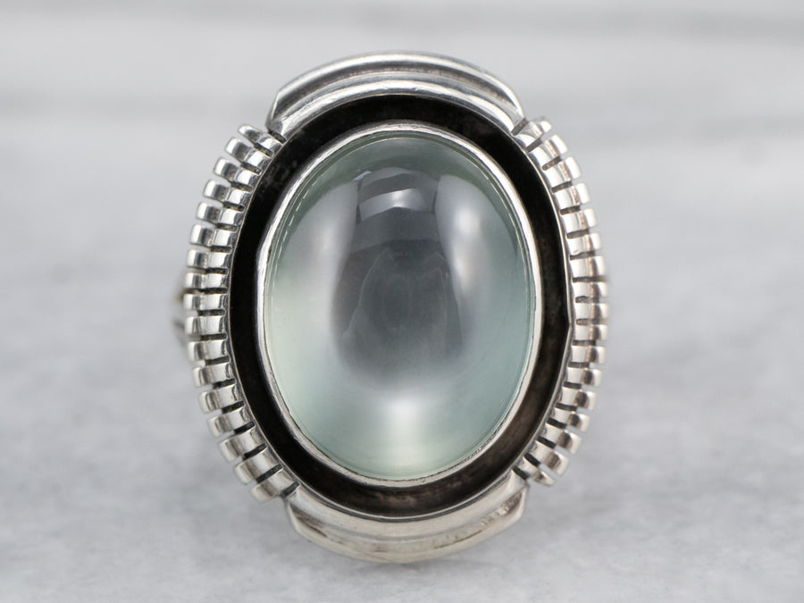 Green Moonstone Cocktail Ring