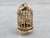 Vintage 18K Gold Caged Songbird Charm