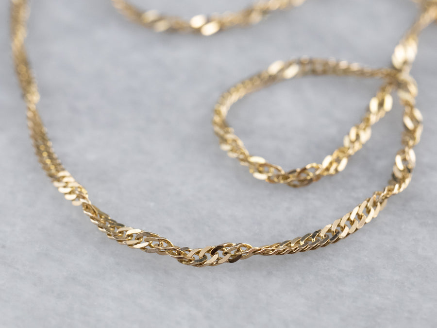 Yellow Gold Curb Twist Chain