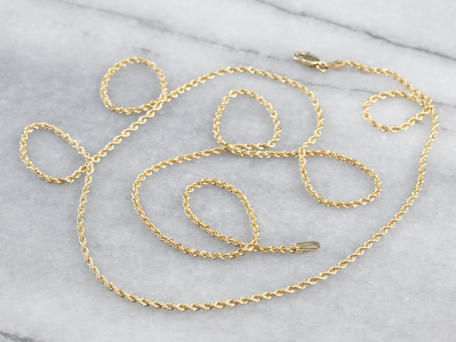 Vintage Gold Rope Twist Chain
