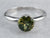 Green Tourmaline White Gold Solitaire Ring