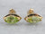 Gold Marquise Peridot Stud Earrings