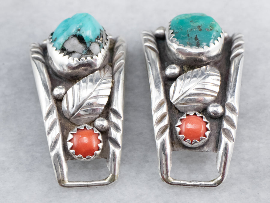 South West Style Turquoise and Coral Watch Tips