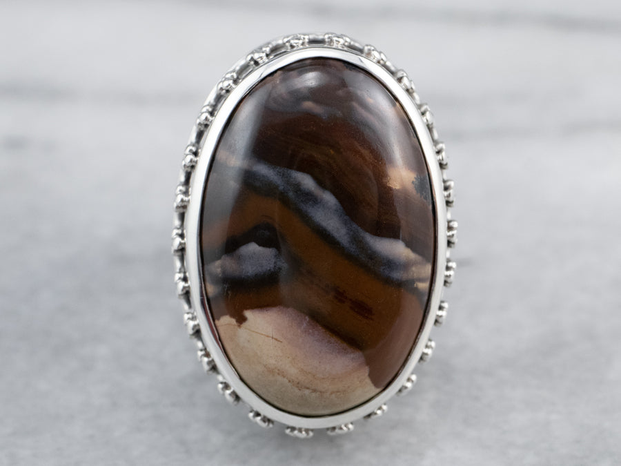 Sterling Silver Jasper Statement Ring