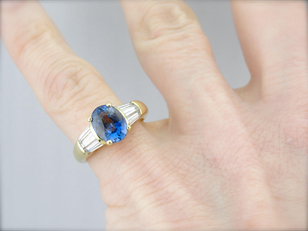 Exceptional Sapphire and Diamond Engagement Ring