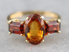 Gold Citrine Statement Ring