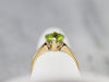 Gold Peridot Solitaire Ring