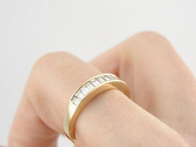 Contemporary Channel Set Baguette Diamond Band