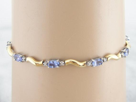 Tanzanite Bracelet with Diamond Accents