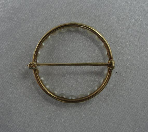 Classic Circle Pin, Wreath of Fine Pearls
