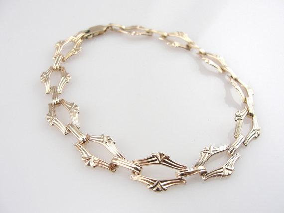 Retro Fancy Link Gold Bracelet