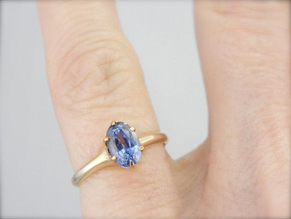 10K Yellow Gold and Ceylon Sapphire Victorian Ring