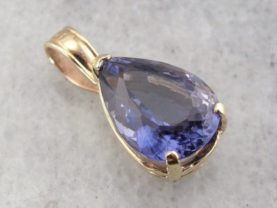 Pear Cut Tanzanite Teardrop Pendant