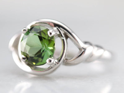 Bi-Colored Tourmaline Solitaire Ring