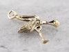 The Stork is Here, Vintage Stork Delivery Charm or Pendant, Baby Shower Keepsake