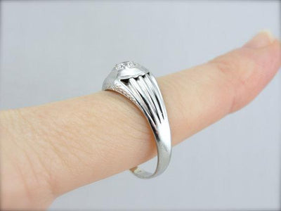 White Gold and Diamond Men's Ring