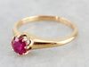 Victorian Pink Sapphire Solitaire Engagement Ring