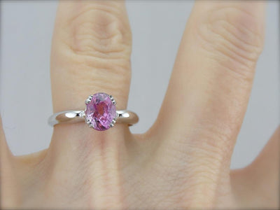 The Perfect Pink Sapphire Engagement Ring