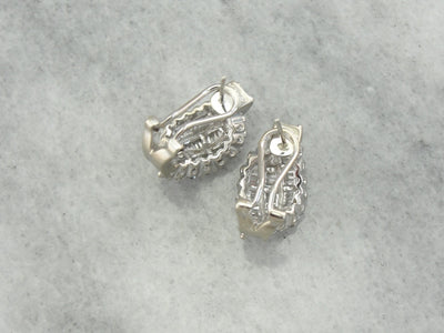 Vintage Diamond Studded Drop Earrings, Perfect Bridal or Anniversary Gift