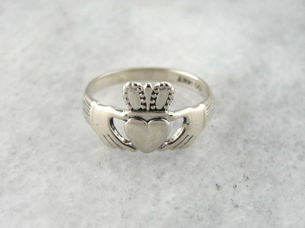 May the Blessing of Light Be on You, Irish Claddagh Wedding Band