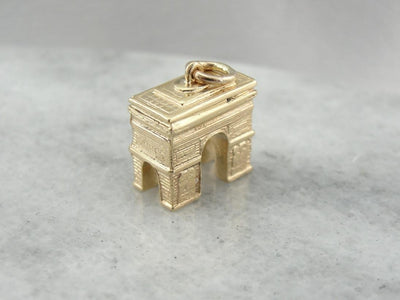 Three Dimensional Arc De Triomphe Keepsake Charm